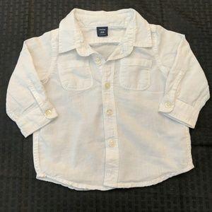BabyGap Linen Cotton Button Down Blouse